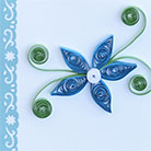 Quilling Blue Flower Card