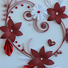 Quilling Flowers for St. Valentin