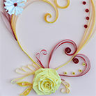 Quilling Heart With Yellow Rose