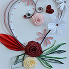 Quilling Roses for St. Valentine