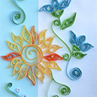 Quilling Sun Card 2
