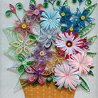 Quilling A Basket Of Flowers