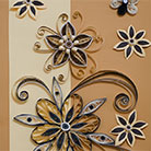 Quilling Flowers Fantasy in Brown