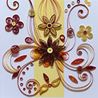 Quilling Red Flowers Fantasy