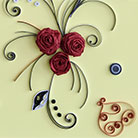 Quilling Red Roses for St. Valentine