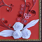 Quilling White Roses for St. Valentine
